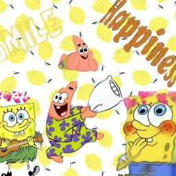 spongebobsquarepants patrickstar edit spongebobandpatrick freetoedit irclemonbackground
