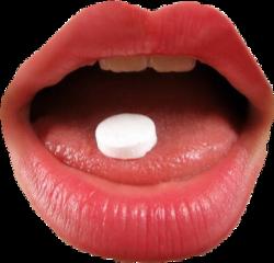 mouth lips drugs pills tongue freetoedit