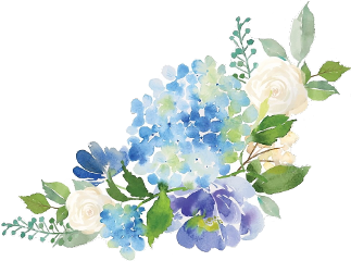 flower floral watercolor blue hydrangea freetoedit