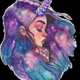 scunicornstickers unicornstickers cutegirl unicorn galaxytheme