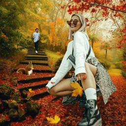 freetoedit autumncolors autumn fall walkinthepark