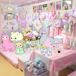 freetoedit kawaii rooms cute