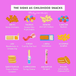 snacks childhood horoscope horoscopesigns zodiac