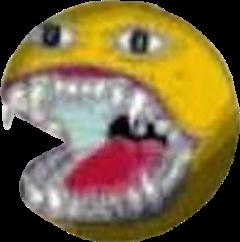 creepy emoji teeth spooky weird freetoedit