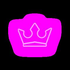 pink neon glow crown tiara freetoedit