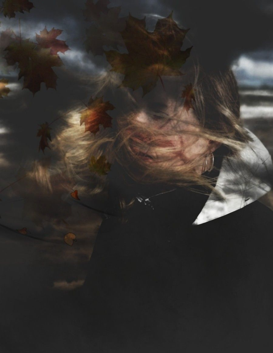 You blow my mind 🍃🍂.... Absently...   #mindblowing #autumn #leaves #herbst #blätter #soulmates #connected #stormymind #blow #windy #stormy #cloudy #freetoedit