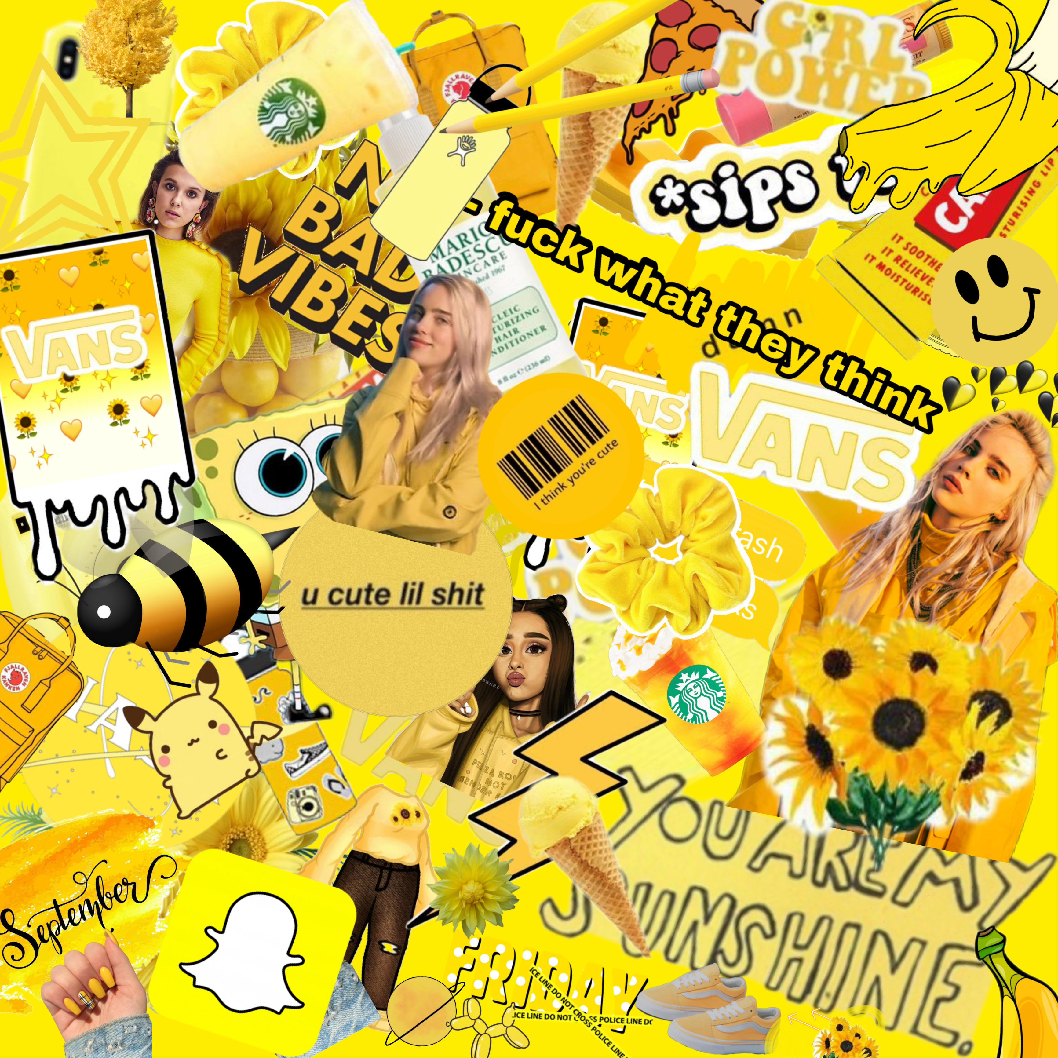 Yellow Collage Aesthetic Wallpaper Image By Cece Download the perfect aesthetic pictures. picsart