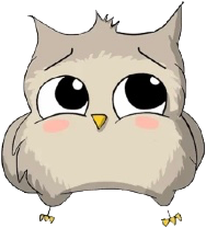 scowl owl freetoedit