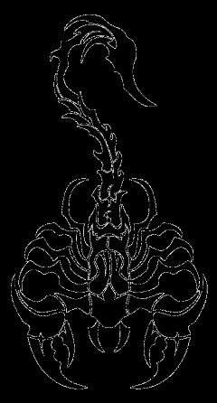 scorpion escorpião tattoo tatuagem tribal freetoedit
