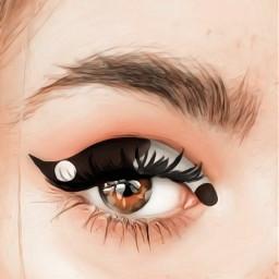 concept yinandyang makeup eyeshadow blackandwhite