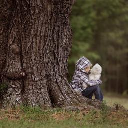 trees grass childhood picsart love