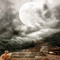 remixit background moon stairs freetoedit