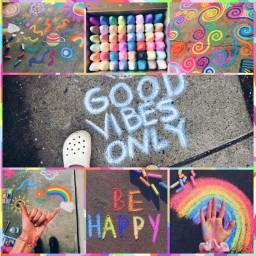 chalk aesthetic rainbows pastels