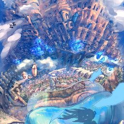 freetoedit art town anime animeart