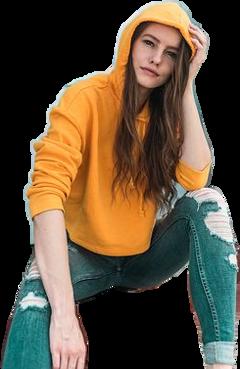 girl sweatshirt yellow freetoedit