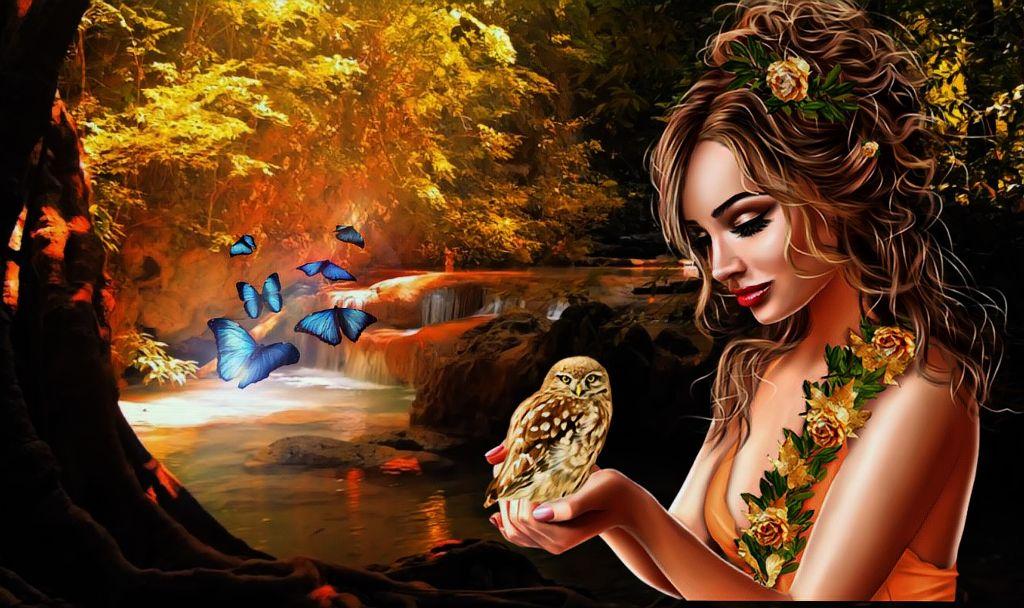 #freetoedit #frog #woman #nature #art #rimixit #beautiful #trees #river #fantasy