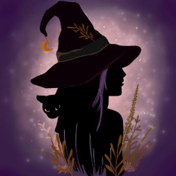 drawing witch cat magic fireflies dcwitchy witches