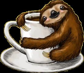 coffee lazy perezoso goodmorning stickerspopulares stickersfreetoedit freetoedit
