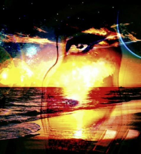 #freetoedit #silhouette #face #beach #sunset #eye #doubleexposure