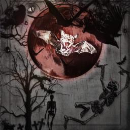 freetoedit spooky halloween halloween2019 skeletons echalloweenspirit
