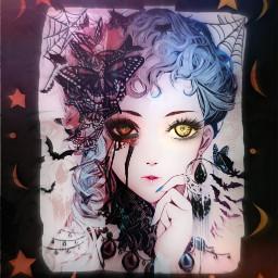 freetoedit halloween girl creepy vampire echalloweenspirit