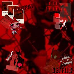 red aesthetic redaesthetic senpai babygirl freetoedit