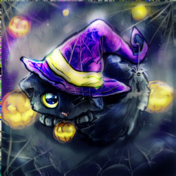 cat witch art cute artist witches dcwitchy