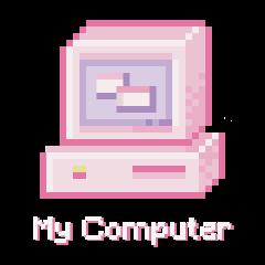 icon computer internet aesthetic soft freetoedit