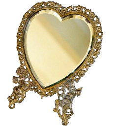 mirror golden heart freetoedit