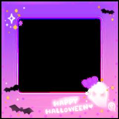 halloween ghost polaroid neon frame freetoedit