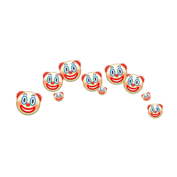 clown aesthetic filter meme iphone freetoedit