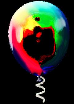 balloon clear transparent birthday glass freetoedit