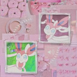 pokemon sylveon pink wallaper aesthetic freetoedit