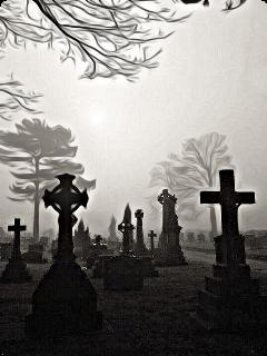 bunia0914 cemetery grave death dark freetoedit