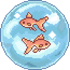 freetoedit fish water pixel bubble
