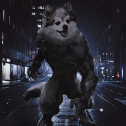werewolf halloween surreal freetoedit