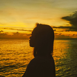 freetoedit mobilephotography zenfone5 sunset silhouette