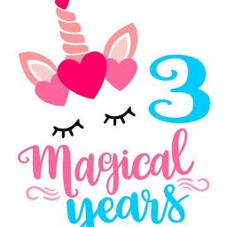 cmbquotes numbers three birthday unicorn