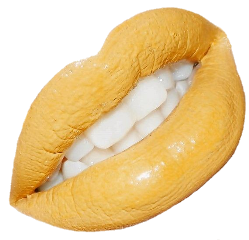 yellow lips makeup lipstick png freetoedit