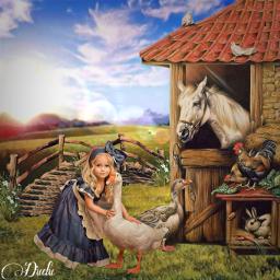 freetoedit granja tumblr paradise niña