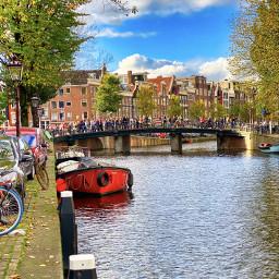 amsterdam travel europe boats bridge freetoedit