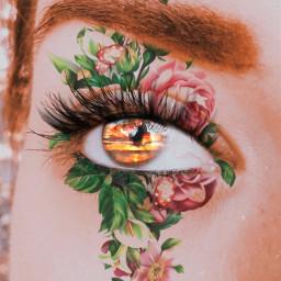 freetoedit eyeshadow sunseteyes flowerbeauty