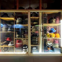 hats hatstore shopwindow windowdisplay night