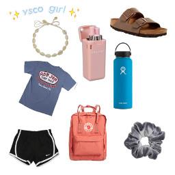 freetoedit vsco vscogirl scrunchies hydroflask