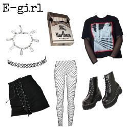 freetoedit egirl aesthetic black grungegirl