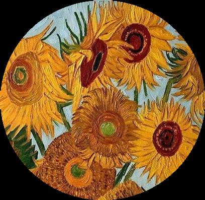 #girasoles #girasol #visentevangogh #vangogh #vangoghart #amarillo #yellow #arte #art #circulo #circulos