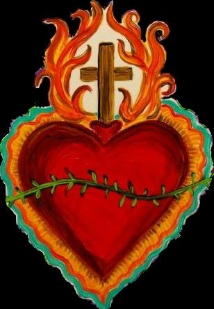 #sacredheart #sacred #flamingheart #heart #sticker #stickerart #love #loveyourself #lovelive #life  #lifeisgood #beautifull