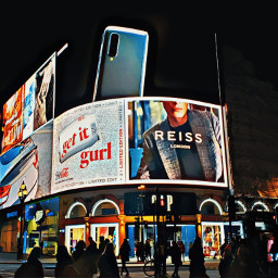 london piccadillycircus neon advert night