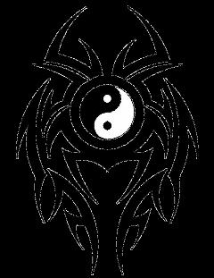 yingyang bemeomal tattoo tatuagem tribal freetoedit