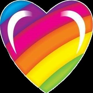 #heart #rainbowheart #sticker #rainbowheartsticker #colorful #colors #pretty #lisafrank #rainbow